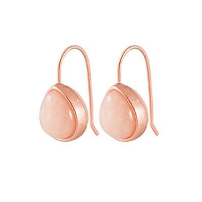 Sence Copenhagen Aventurine Rose Gold Earrings
