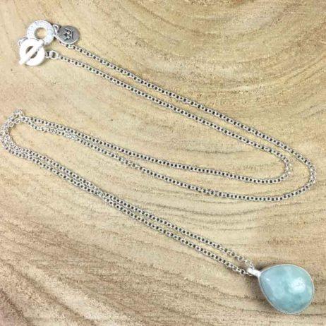Sence Copenhagen Aquamarine Silver Necklace