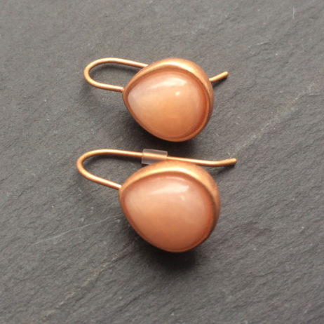 Sence Copenhagen Aventurine Rose Gold Earrings