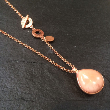 Sence Copenhagen Rose Aventurine Rose Gold Necklace