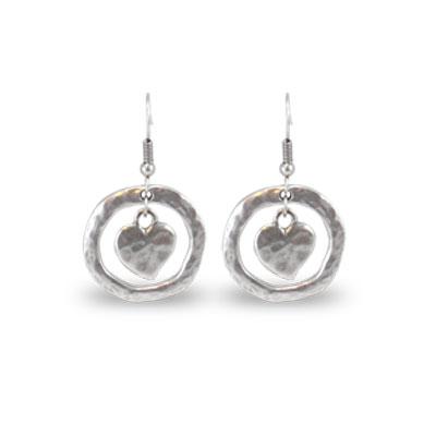 Danon Jewellery Mini Heart Circle Earrings