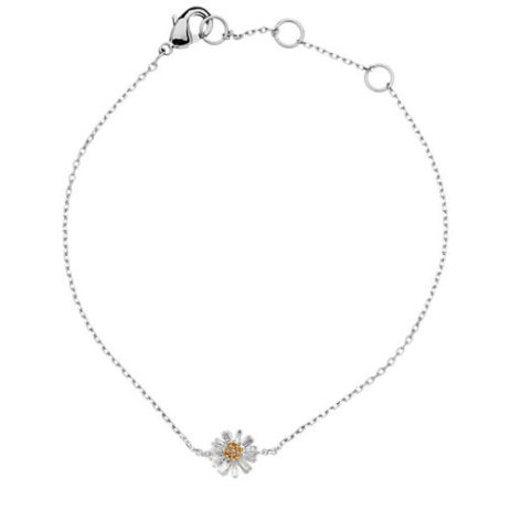Estella Bartlett Silver Plated Wildflower Bracelet