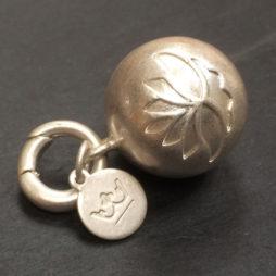 Sence Copenhagen Jewellery Silver Sphere Lotus Charm Pendant