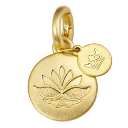 Sence Copenhagen Jewellery Gold Sphere Lotus Charm
