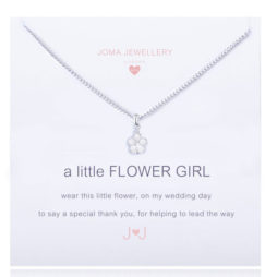 Joma Jewellery Girls a little Flower GIRL Silver Necklace