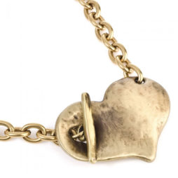 Danon Necklace With Large Chunky Heart Bronze