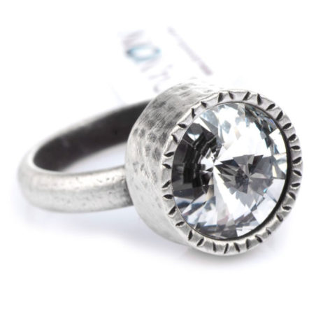 Danon Jewellery Clear Crystal Silver Ring - EOL
