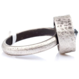 Danon Jewellery Clear Crystal Silver Ring