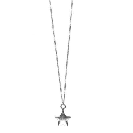 Hultquist Jewellery Long Silver Star Pendant Necklace