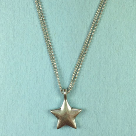Hultquist Jewellery Double Chain Silver Star Pendant Necklace