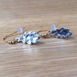 Hultquist Jewellery Bi Colour Oak Leaf Earrings