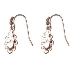 Hultquist Jewellery Rose Gold Oak Leaf Earrings