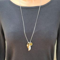 Hultquist Jewellery Bi Colour Oak Leaf Long Necklace
