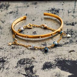 Hultquist Jewellery Semi Precious Gold Star Bracelet
