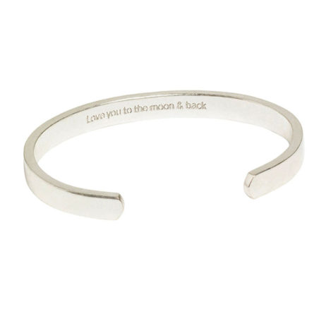 Hultquist Jewellery Silver Love Message Cuff
