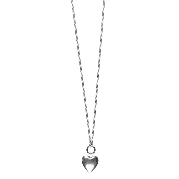 Hultquist jewellery long silver heart pendant necklace lizzielane hultquist jewellery long silver heart pendant necklace aloadofball Choice Image