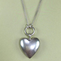 Hultquist Jewellery Long Silver Heart Pendant Necklace