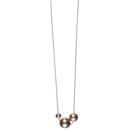 Hultquist Jewellery Rose Gold Plated Balls Long Necklace