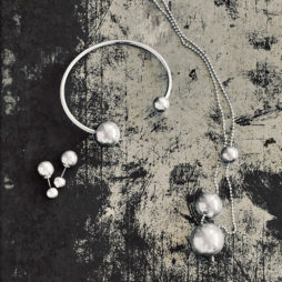 Hultquist Jewellery Silver Plated Balls Long Necklace