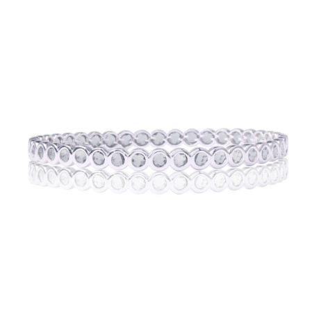 Joma Jewellery Crystal Infinity Silver Bangle 1186