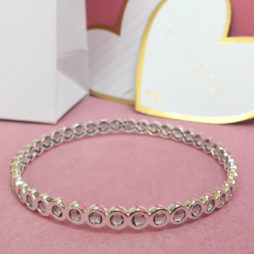 Joma Jewellery Crystal Infinity Silver Bangle 1186