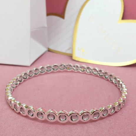 Joma Jewellery Crystal Infinity Silver Bangle