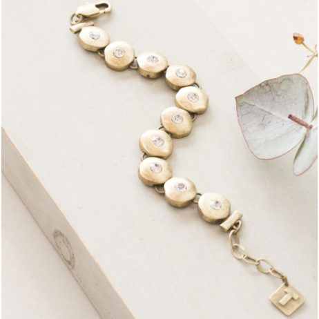 Tutti and Co Jewellery Gold Crystal Bracelet