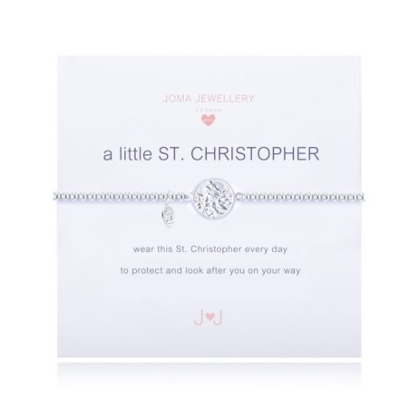 Joma Jewellery Girls a little St Cfhristpher Silver Bracelet