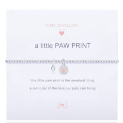 Joma Jewellery Girls a little Paw Print Silver Bracelet C209