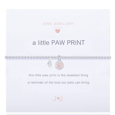 Joma Jewellery Girls A Little Paw Print Silver Bracelet