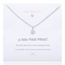 Joma Jewellery Girls a little Paw Print Silver Necklace