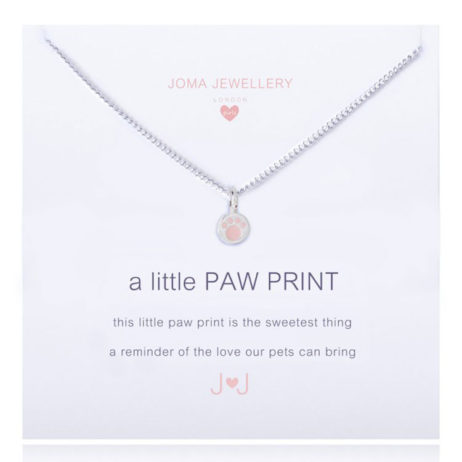 Joma Jewellery Girls a little Paw Print Silver Necklace C210 EOL