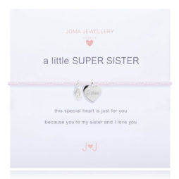 Joma Jewellery Girls a little Super Sister Silver Bracelet C294