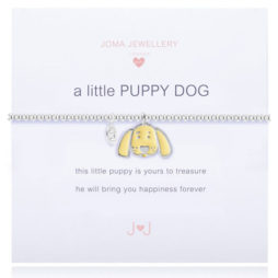 Joma Jewellery Girls a little Puppy Dog Silver Bracelet C343