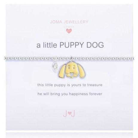 Joma Jewellery Girls a little Puppy Dog Silver Bracelet