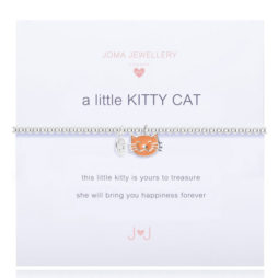 Joma Jewellery Girls a little Kitty Cat Silver Bracelet