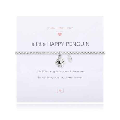 Joma Jewellery Girls a little Happy Penguin Silver Bracelet C345