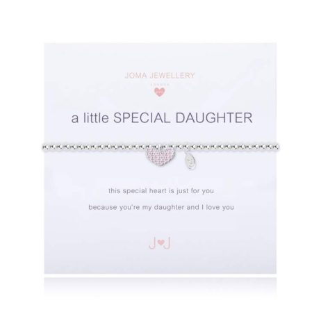 Joma Jewellery Girls a little Special Daughter Silver Bracelet