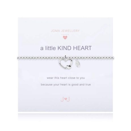 Joma Jewellery Girls a little Kind Heart Silver Bracelet