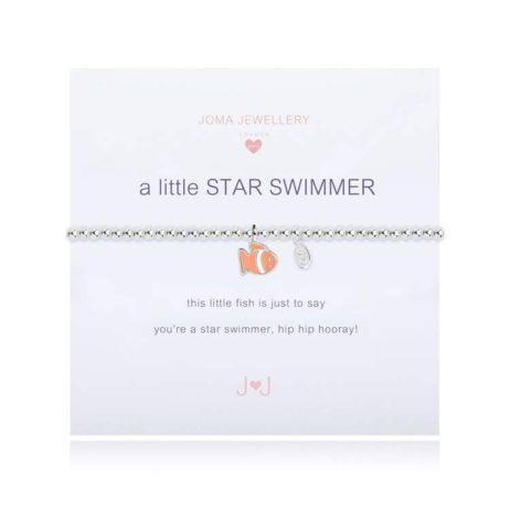 Joma Jewellery Girls a little Star Swimmer Silver Bracelet C354
