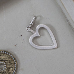 Tutti and Co Jewellery Silver Open Heart Charm
