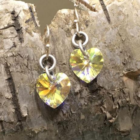 Danon Jewellery Crystal Heart Drop Earrings - EOL
