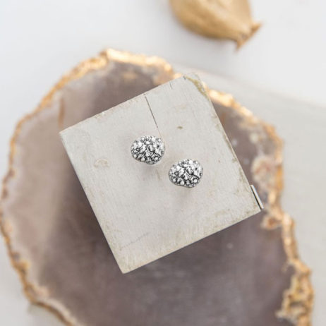 Tutti and Co Jewellery Silver Raised Dot Studs