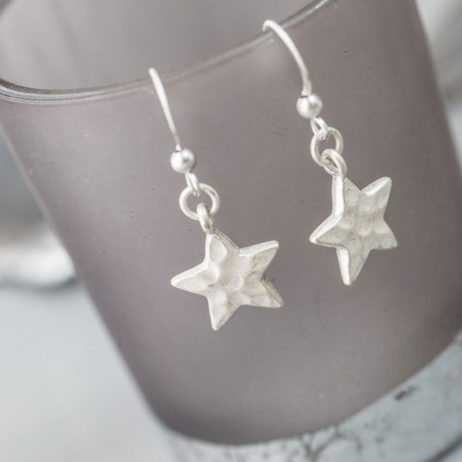 Tutti and Co Jewellery Silver Star Drop Earrings