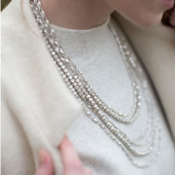 Tutti and Co Silver Faceted Statement Necklace