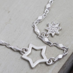 Tutti and Co Jewellery Silver Multi Stars Necklace