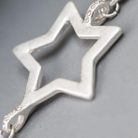 Tutti and Co Jewellery Silver Multi Stars Necklace