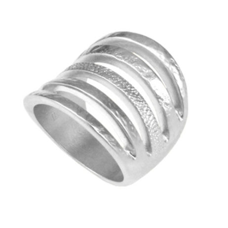 Danon Jewellery Chunky Silver Five Band Ring