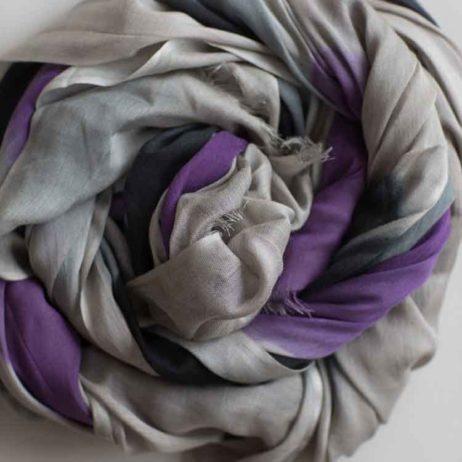 Tutti and Co Purple and Grey Tonal Print Scarf