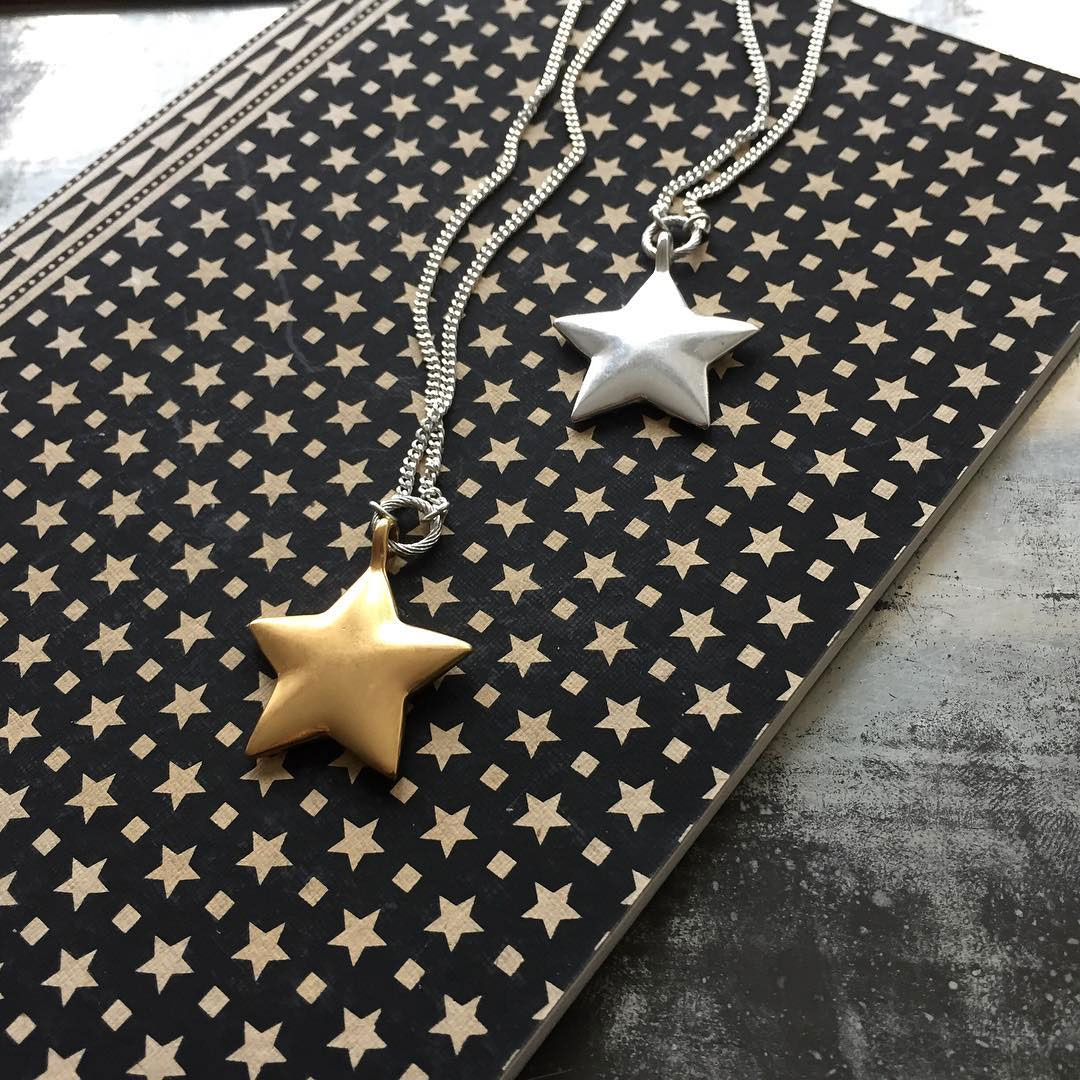 7ca2c378a85c5 Details about Hultquist Jewellery Long Silver Star Pendant Necklace